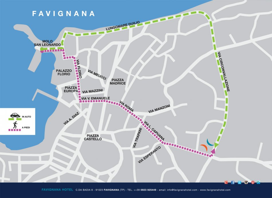 Mappa favignana centro